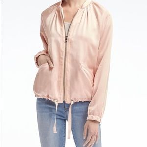 Banana republic satin bomber jacket BNWT
